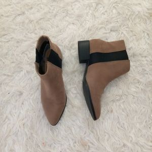 H&M tan boots with black strip
